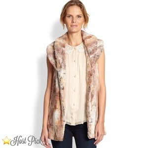 Alice+Olivia Annistyn Faux Fur Vest